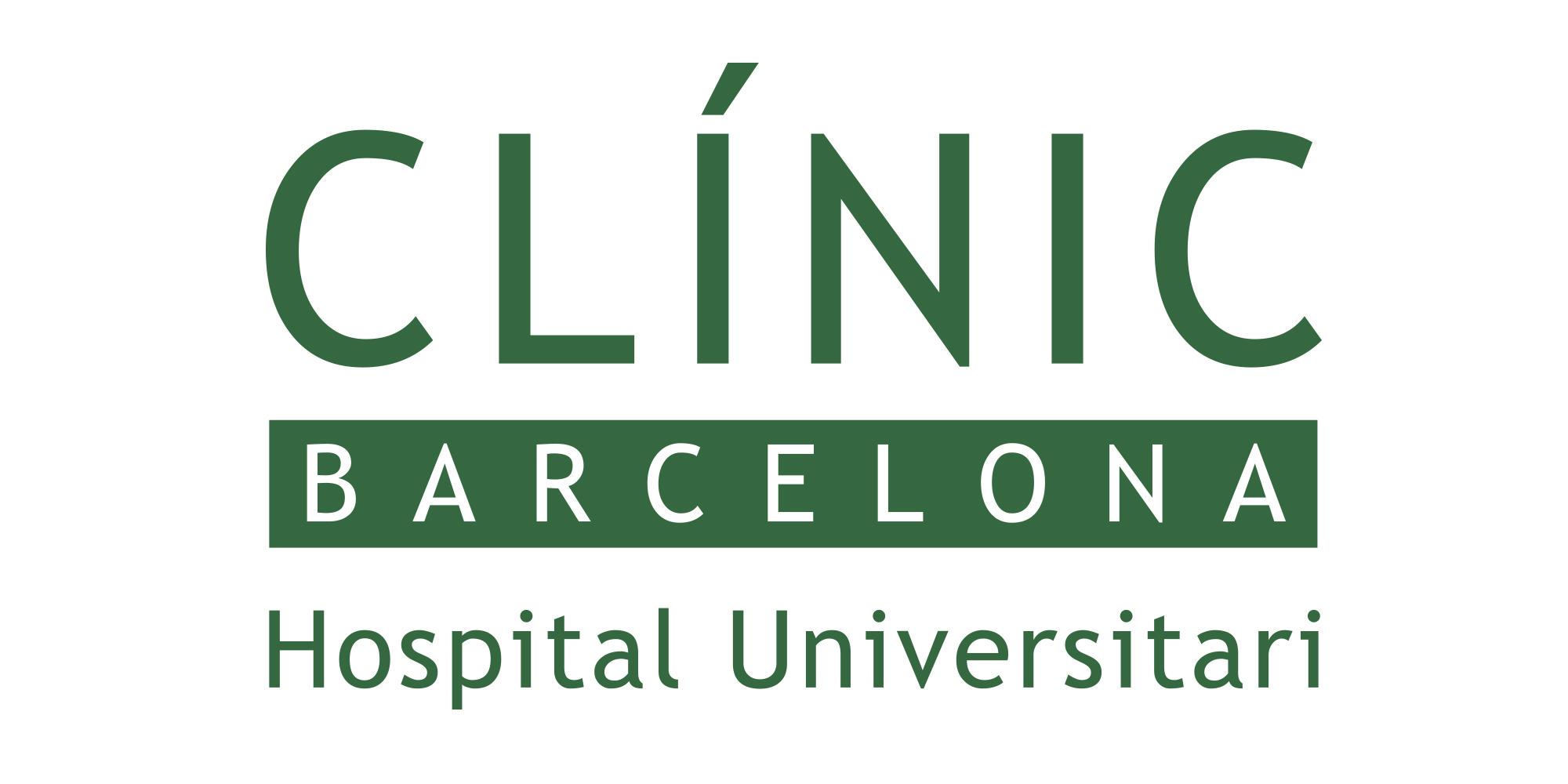 Resultat d'imatges de hospital clinic logo